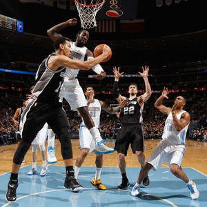 Spurs vs. Denver Tiago Splitter (Foto: Getty Images)