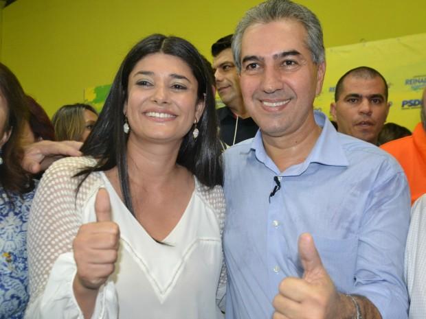 Reinaldo oficializa candidatura a governador ao lado de Rose Modesto, vice (Foto: Gabriela Pavão/ G1 MS)