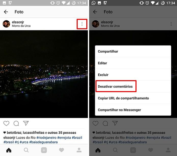Instagram permite desativar ou ativar comentários de fotos antigas rapidamente (Foto: Reprodução/Elson de Souza)