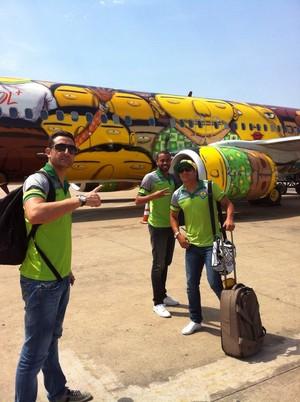 Embarque do Cuiabá para Maceió (Foto: Assessoria/Cuiabá Esporte Clube)