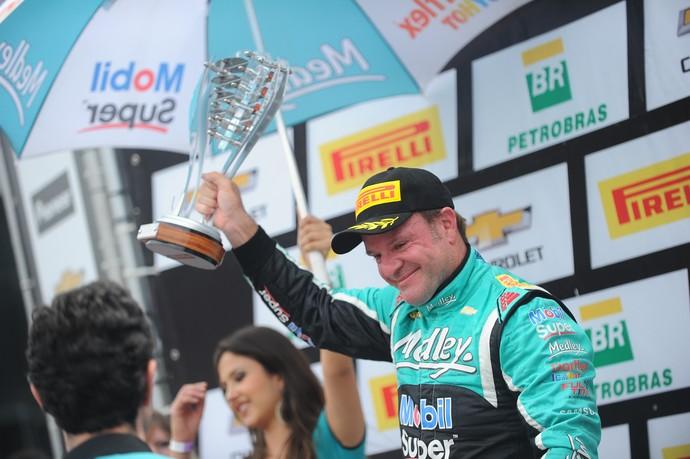 Rubens Barrichello vice-campeão Stock Car 2016 (Foto: Duda Bairros)