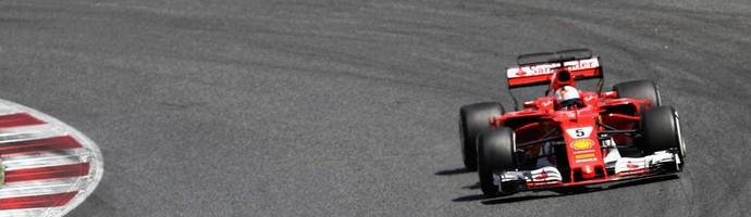 Hamilton e Vettel no GP da Espanha (Foto: Getty Images)