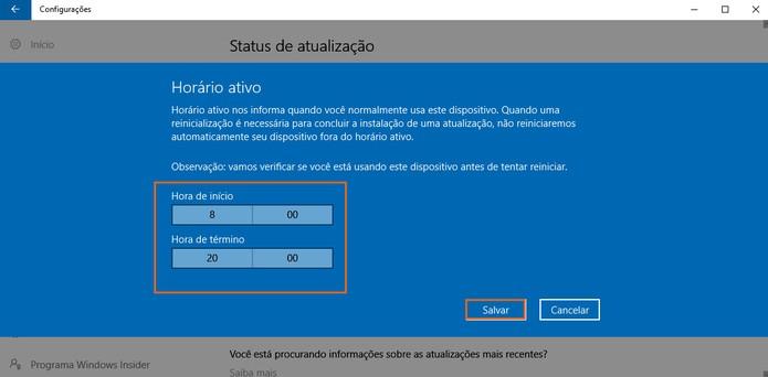 Salve o horário ativo do seu computador com Windows 10 (Foto: Reprodução/Barbara Mannara)