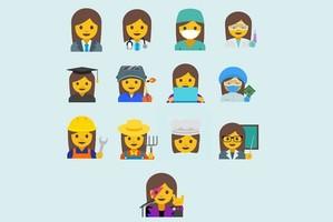 Google cria emojis com mulheres e suas carreiras