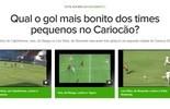 Qual o gol mais bonito do Carioca entre os pequenos até agora? Vote (Reprodução)