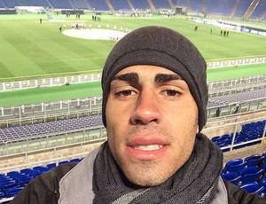 Gabriel no estádio Olímpico de Roma (Foto: Arquivo Pessoal)