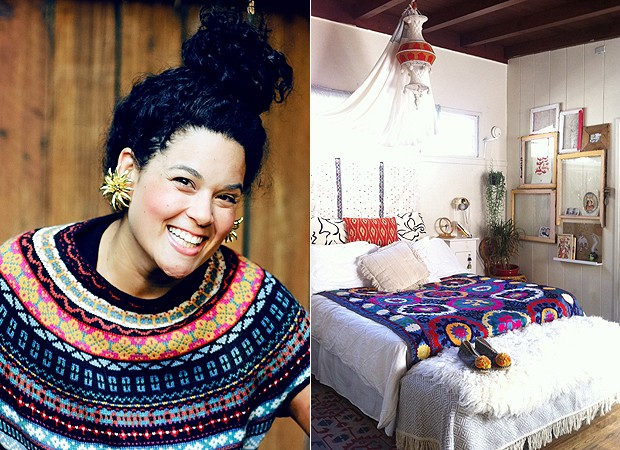 O quarto de Justina tem objetos customizados, como essas molduras  (Foto: (Foto: blog.justinablakeney.com) )