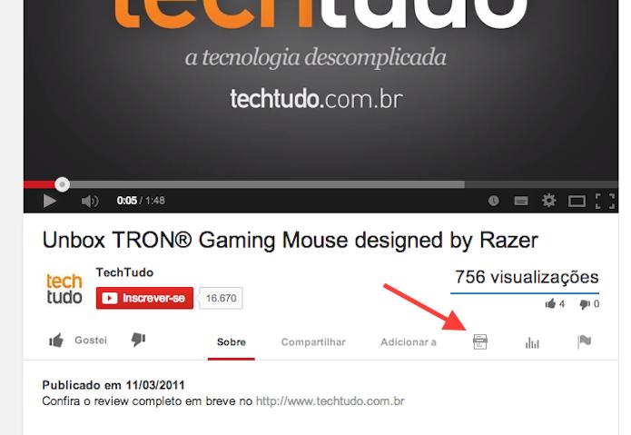 Acessando a ferramenta transcrição de vídeos do YouTube (Foto: Reprodução/Marvin Costa)