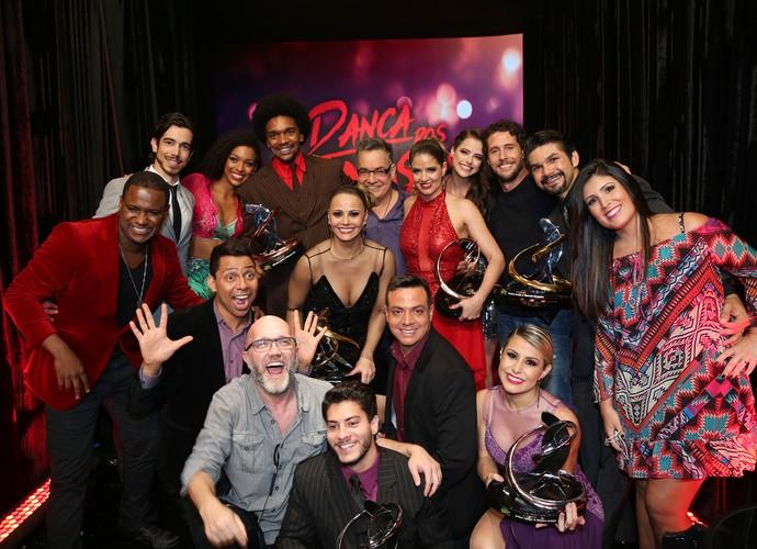 Participantes do 'Dança 2015' comemoraram com a produção do programa (Foto: Carol Caminha/Gshow)