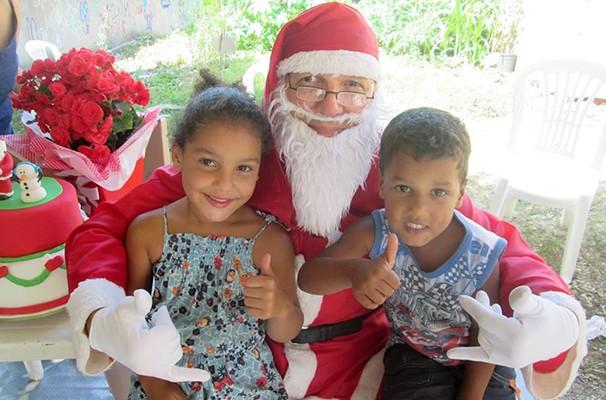 Papai Noel foi uma das grandes atrações do evento (Foto: Divulgação / Projeto Crescer)
