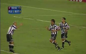 Na memória: Em 2004, Botafogo não perdoa Fluminense e goleia por 4 a 1