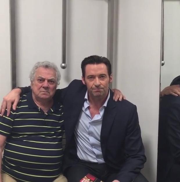 Isaac Bardavid, dublador do Wolverine, e Hugh Jackman (Foto: Reprodução/Instagram)