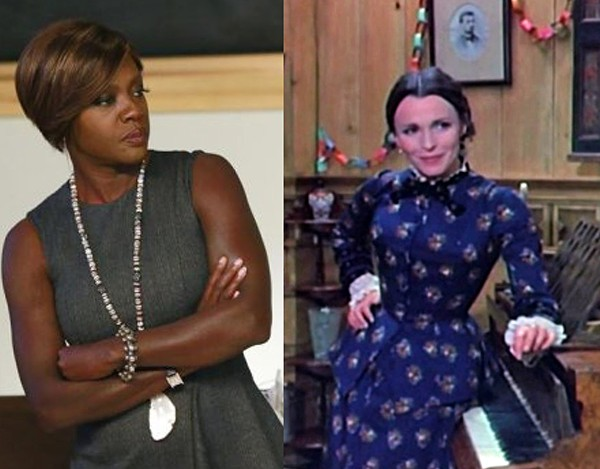 Viola Davis na série 'How to Get Away With Murder' e Claire Bloom no papel de Nora Helmer no filme 'A Casa das Bonecas' (1973) (Foto: Divulgação)