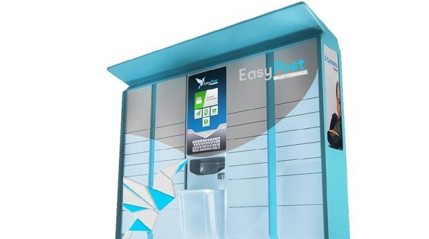 Modelo do terminal de autoatendimento da EasyPost (Foto: Divulgação)
