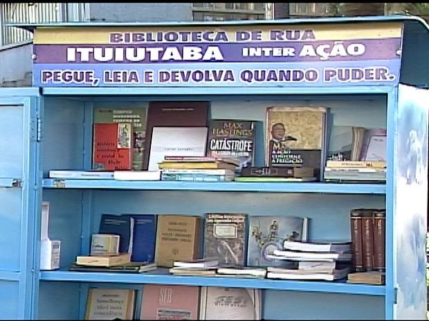 biblioteca de rua ituiutaba  (Foto: Reprodução/TV Integração)