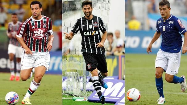 Fluminense e Corinthians jogam pelos seus campeonatos locais e o Cruzeiro faz partida pela Libertadores (Foto: globoesporte.com)