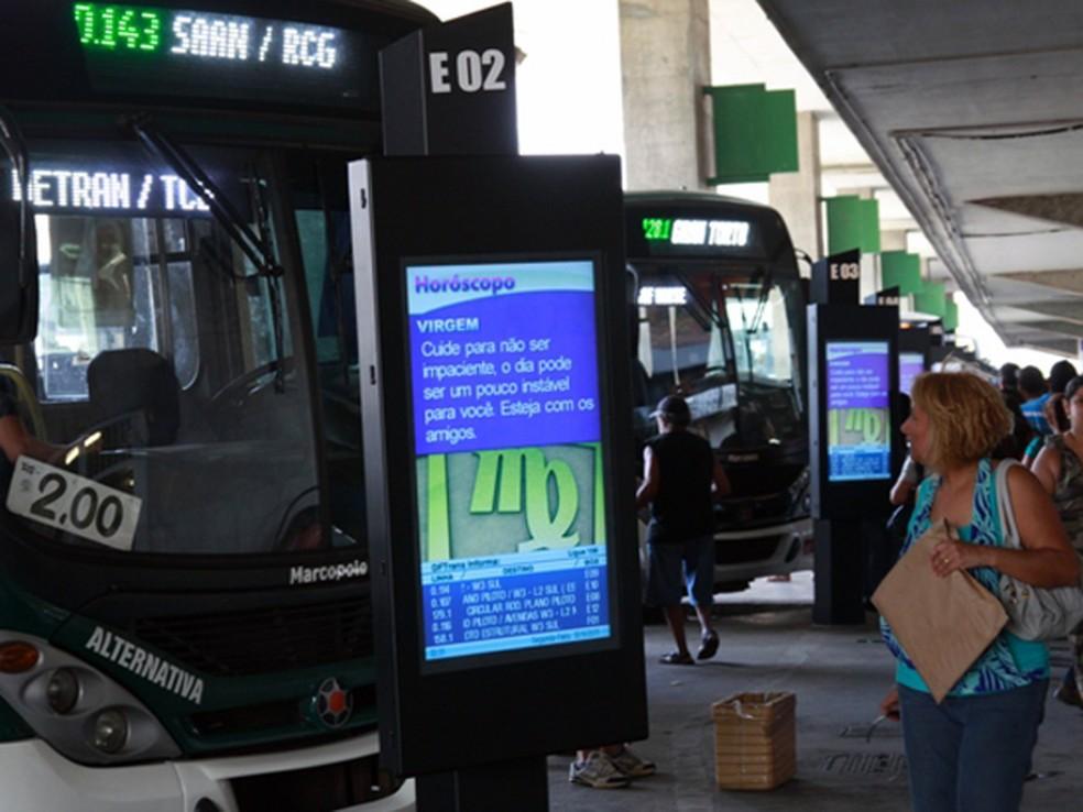 Secretaria de Transportes instalou 107 painéis informativos na Rodoviária do Plano Piloto (Foto: Agência Brasília)