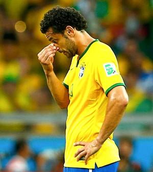 Fred lamentando jogo Brasil x Alemanha (Foto: Reuters)