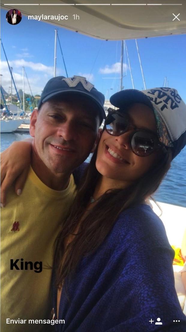 Mayla e o pai Volnei (Foto: Reprodução/Instagram)