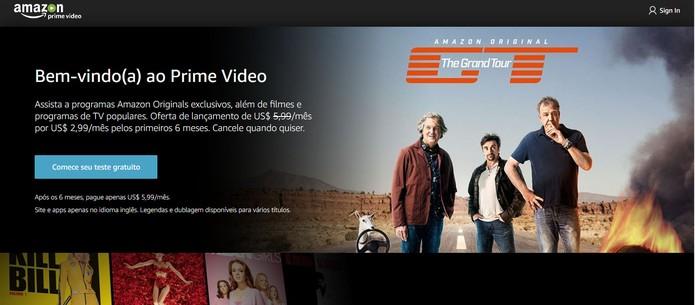 Amazon Prime Vídeo está disponível no Brasil (Foto: Reprodução/Barbara Mannara) (Foto: Amazon Prime Vídeo está disponível no Brasil (Foto: Reprodução/Barbara Mannara))