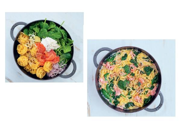 Chiquetosa: espinafre e salmão defumado (Foto: Akiko Ida / Divulgação)