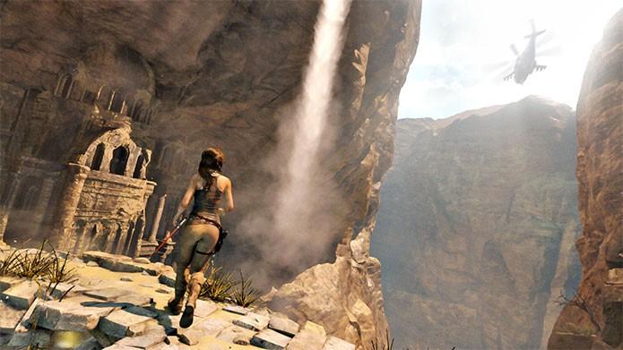 Um dos ambientes de Rise of the Tomb Raider (Foto: Divulgação)