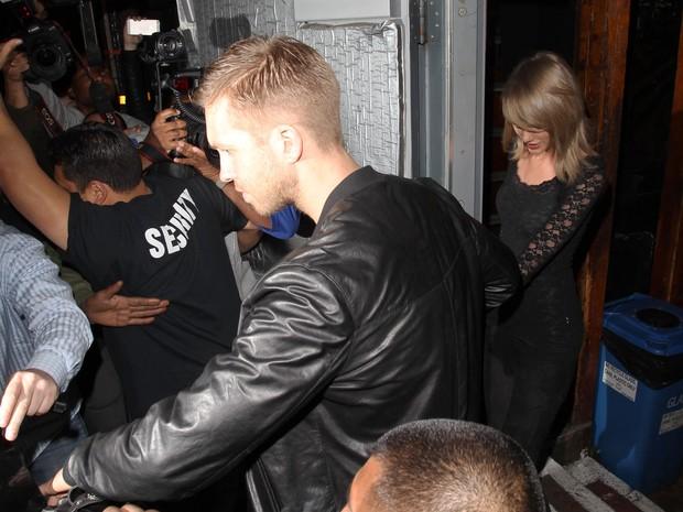 Taylor Swift e Calvin Harris (Foto: Agência Grosby Group)