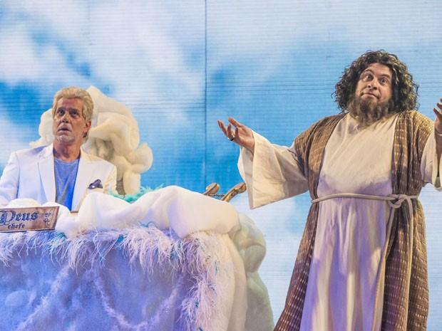 Leandro Hassum vira Noé e tem que negociar com o Todo Poderoso