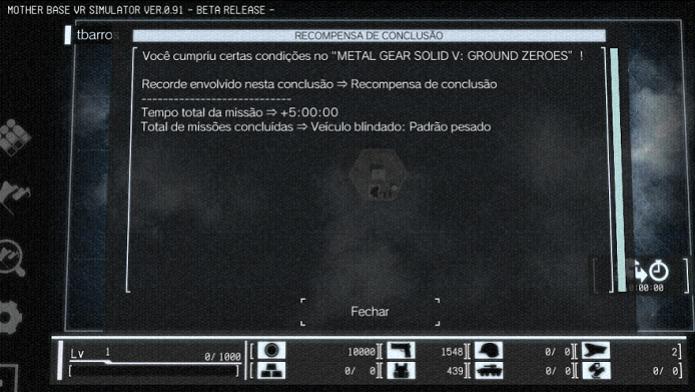 Mensagem do jogo aparece no início  (Foto: Thiago Barros / TechTudo)