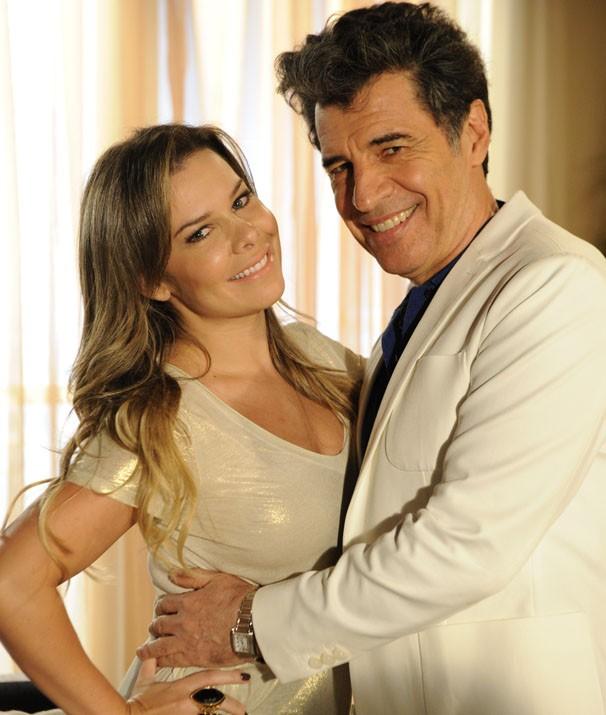 Fernanda Souza e Paulo Betti serão um casal na Malhação 2013 (Foto: Renato Rocha Miranda / TV Globo)