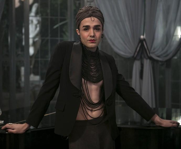 Darwin del Fabro será Collete D'or, um clássico travesti da época (Foto: Inácio Moraes/Gshow)