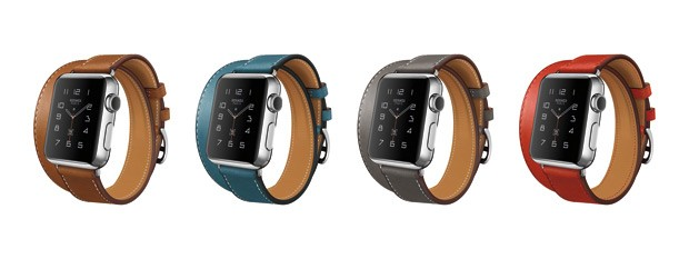Apple Watch Hermés Double Tour dá duas voltas no braço e possui quatro cores (Foto: Divulgação)