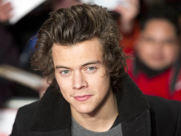 Cantor Harry Styles, da banda One Direction, em première de filme em Londres, na Inglaterra (Foto: Neil Hall/ Reuters)