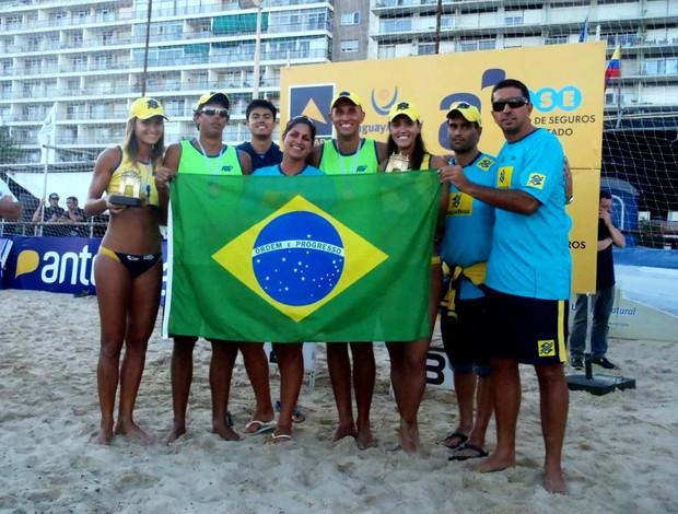 vôlei de praia brasil circuito sul-americano (Foto: Reprodução / Facebook)