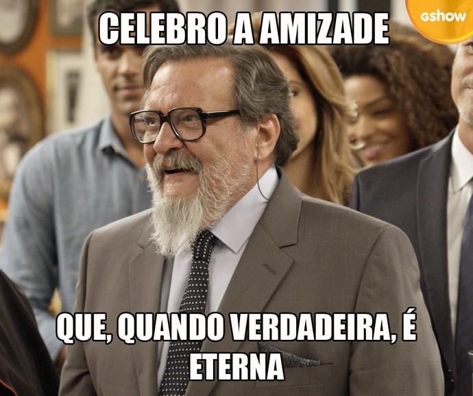 Tanaka celebra amizade (Foto: TV Globo)