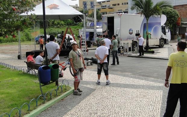 Ge Na estrada em Nova Serrana (Foto: Fernando Martins)