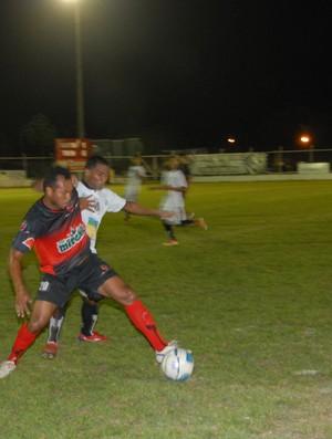 Santos e Trem ermpatam e o 'Peixe' é o campeão do 1º turno (Foto: Gabriel Penha/GE-AP)