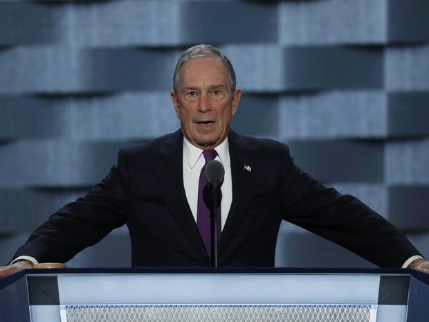 Michael Bloomberg fala na convenção democrata na Filadélfia (Foto: Mike Segar/Reuters)