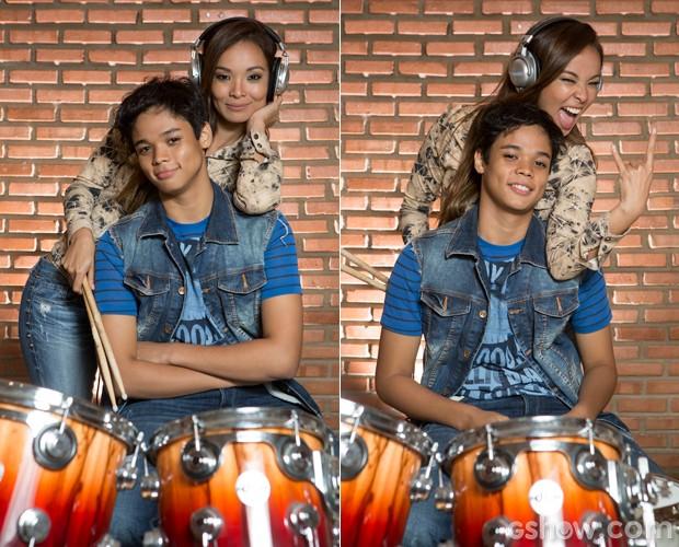 Tal mãe, tal filho: os dois admitem que são ciumentos (Foto: Felipe Monteiro / TV Globo)