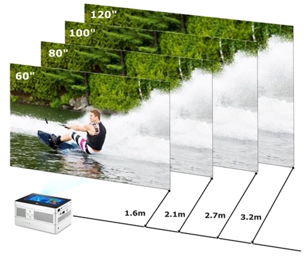 iBeamBLOCK projeta em resolução HD em até 120 polegadas (Foto: Divulgação/Aiptek)
