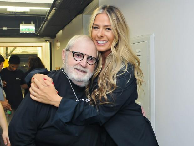 Jô Soares e Adriane Galisteu em estreia de peça em São Paulo (Foto: Manuela Scarpa/ Brazil News)
