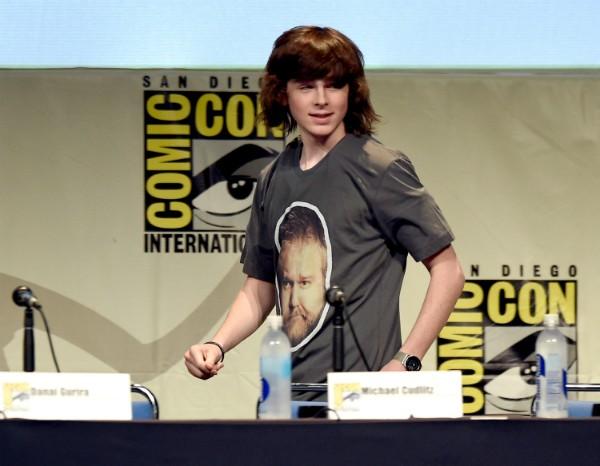 Aos 16 anos, Chandler Riggs recebeu US$1,44 milhão pela temporada mais recente de The Walking Dead (Foto: Getty Images)