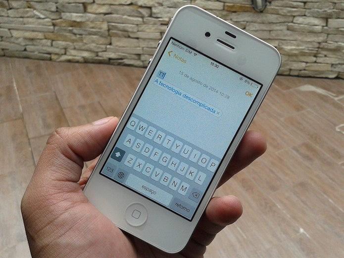 Como fixar letras em caixa alta no iPhone? (Foto: Reprodução/Marvin Costa)