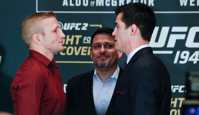 TJ Dillashaw x Dominick Cruz Media Day UFC (Foto: Adriano Albuquerque)