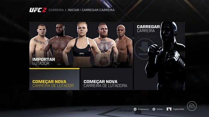 EA Sports UFC 2 tem modo carreira vasto (Foto: Reprodução/Thiago Barros)