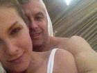 Grávida, Ana Hickmann posa com o marido em clima de romance
