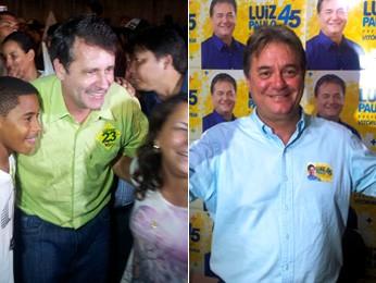 Luciano Rezende e Luiz Paulo vão para o 2º turno. (Foto: Juirana Nobres e Leandro Nossa/ G1ES)