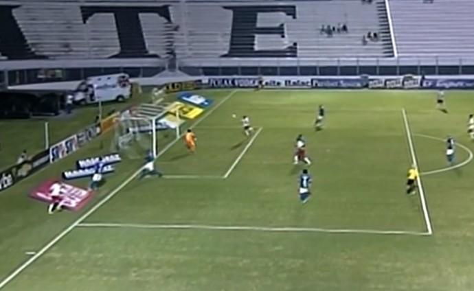 Lulinha perde gol incrível contra o São Bento (Foto: Reprodução / Premiere FC)