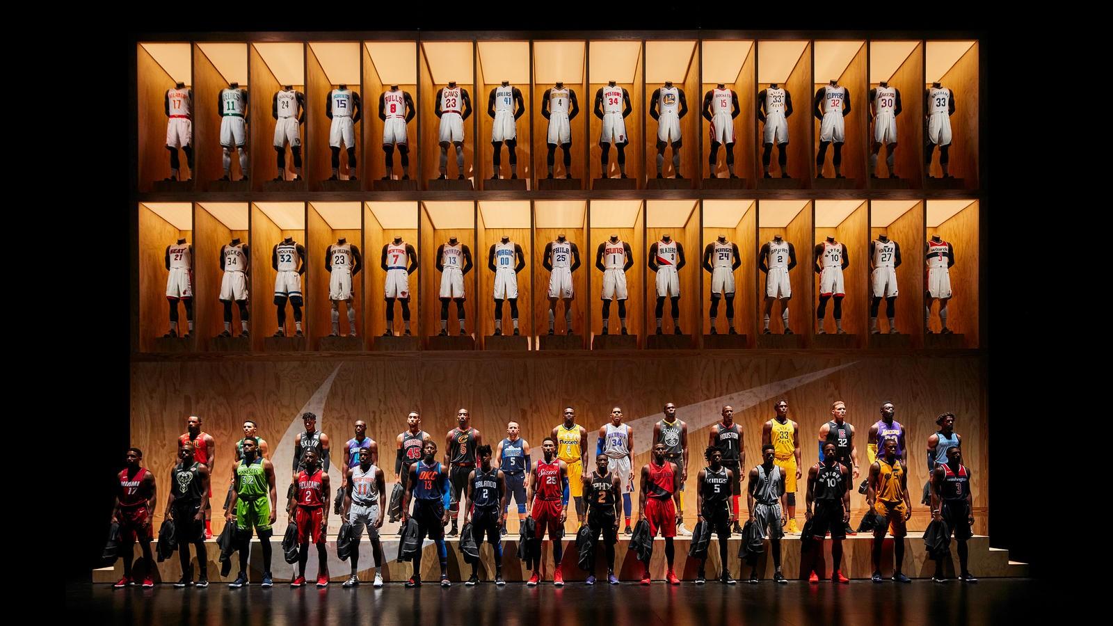 Os uniformes da NBA feitos pela Nike (Foto: Divulgação/Nike)