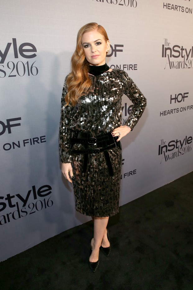 Isla Fisher em prêmio em Los Angeles, nos Estados Unidos (Foto: Jonathan Leibson/ Getty Images/ AFP)